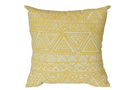 Outdoor Accent Pillow-Lemon Triangles 18X18 - Main