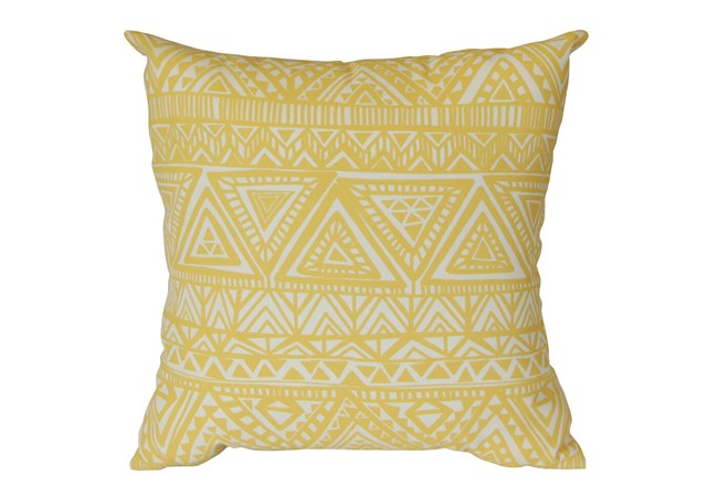 Outdoor Accent Pillow-Lemon Triangles 18X18 - 360