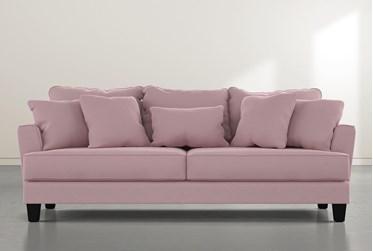 """Elijah II 100"""" Pink Velvet Sofa"""