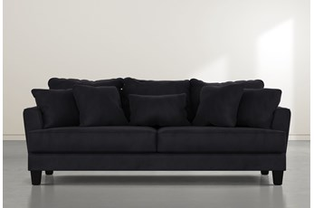 Elijah II Dark Grey Velvet Sofa