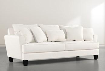 "Elijah II White 100"" Sofa"