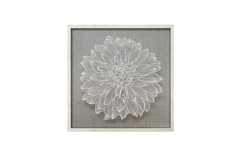 Picture-Flower Paper Art White 24X24