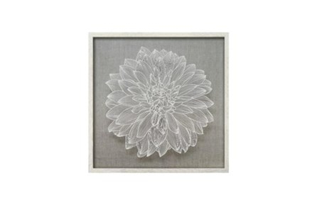 Picture-Flower Paper Art White 24X24 - Main