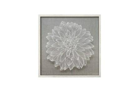 24X24 Flower Paper Art White - Main