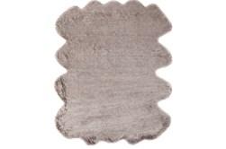 72X90 Oval Rug-Faux Fur Shag Brown