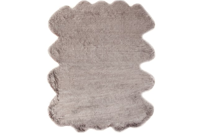 72X90 Oval Rug-Faux Fur Shag Brown - 360