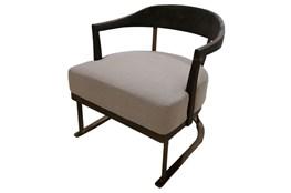 Dark Grey + Brass Accent Chair