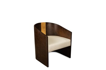 Curved Wrapped Wood Accent Chair