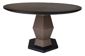 Black + Natural Wood Dining Table