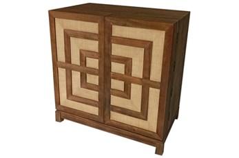 Mahogany + Cane Cabinet