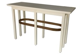 "White + Brass 56"" Sofa Table"