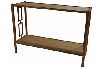 "Faux Bamboo 48"" Console Table"