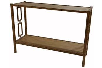 """Faux Bamboo 48"""" Console Table"""