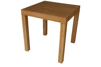 Natural Rattan Accent Table