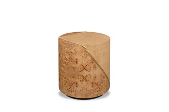 Mappa Burl + Woven Accent Table