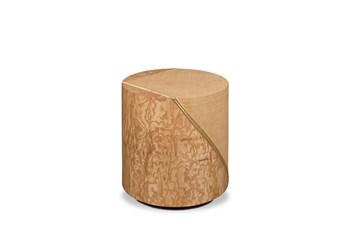 Tamo Ash Burl + Woven Accent Table