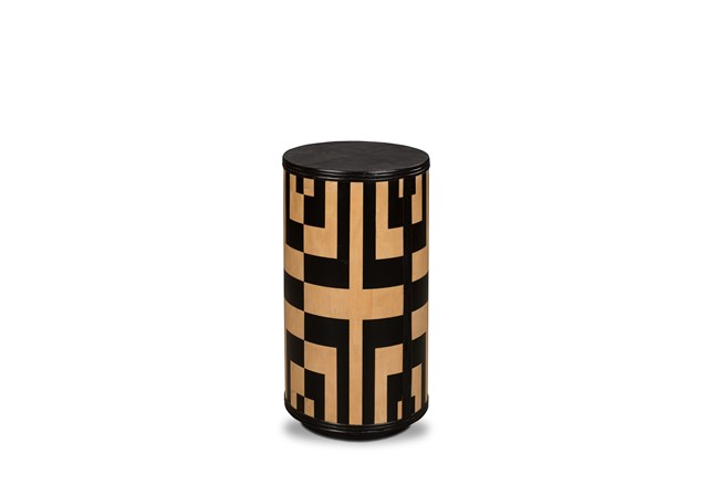 Black + Natural Geo Accent Table  - 360