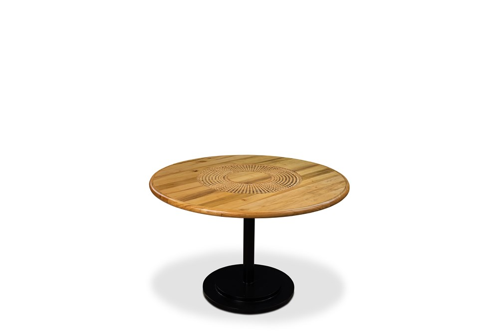 Round Woven Center Dining Table