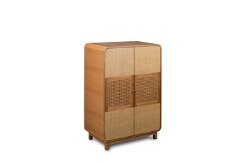 Woven Front Tall Cabinet