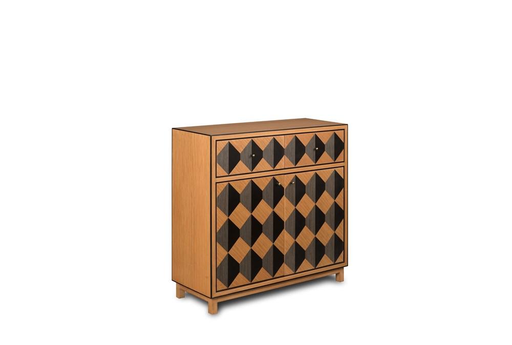 2 Drawer 2 Door Geo Pattern Dresser