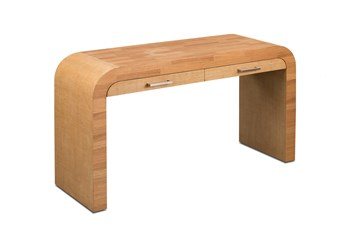 Oak + Raffia Desk
