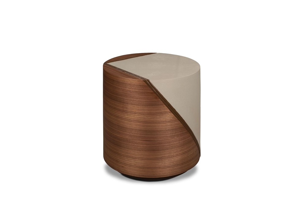 Walnut + Grey Pieced Accent Table