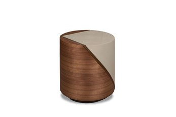 Walnut + Grey Pieced Accent Table