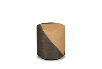 Grey + Natural Pieced Accent Table