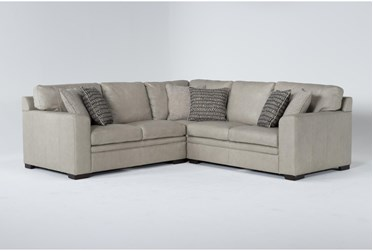 """Greer Stone Leather 3 Piece 108"""" Sectional With Right Arm Facing & Left Arm Facing Loveseat and Corner"""