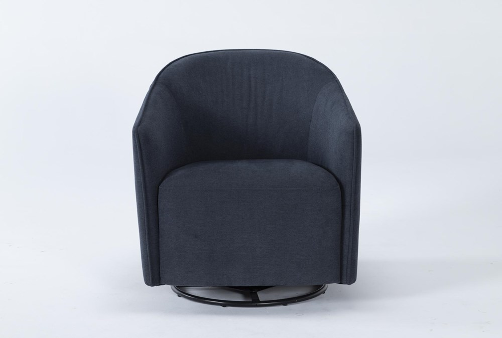 Chanel Denim Swivel Accent Chair
