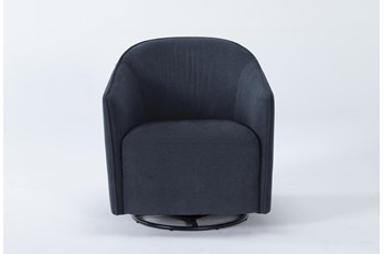 Chanel Denim Swivel Accent Chair