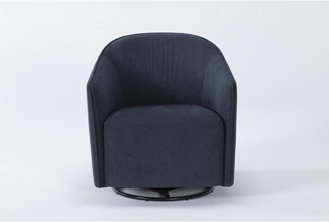Chanel Denim Swivel Accent Chair - 360