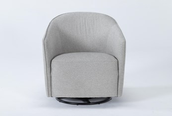 Chanel Grey Swivel Accent Chair