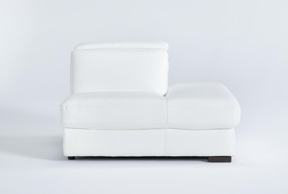 Hana White Leather Right Arm Facing Chaise With 2 Position Headrest