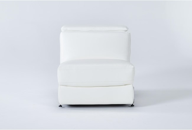 Hana White Leather Armless Power Recliner With Power Headrest - 360