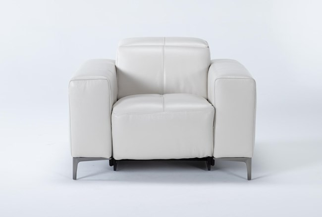 Alessa Frost Power Reclining Chair With Power Headrest - 360