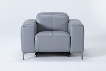 Alessa Sleet Power Reclining Chair With Power Headrest