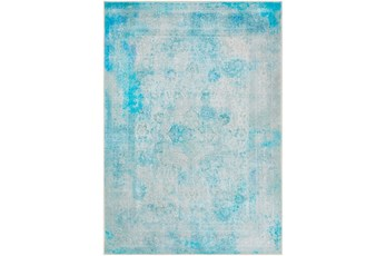 63X87 Rug-Vintage And Traditional Printed Teal