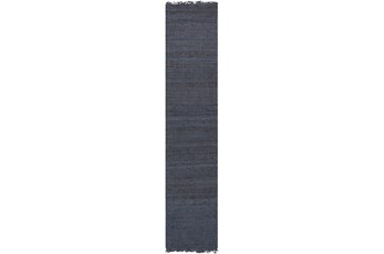 27X96 Rug-Reversible Jute Charcoal