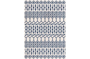 24X36 Rug-Modern Geometric Easy Care Blue