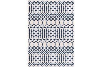 63X87 Rug-Modern Geometric Easy Care Blue
