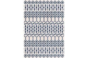 """7'8""""x10'3"""" Rug-Modern Geometric Easy Care Blue"""
