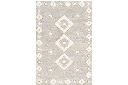 24X36 Rug-High/Low Pile With Diamond Pattern Camel/Cream
