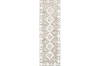 30X96 Rug-High/Low Pile With Diamond Pattern Camel/Cream