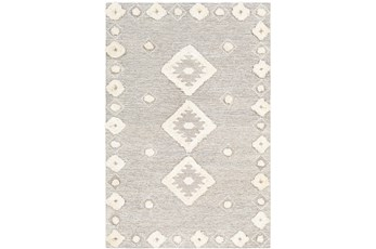 36X60 Rug-High/Low Pile With Diamond Pattern Camel/Cream