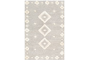 3'x5' Rug-High/Low Pile With Diamond Pattern Camel/Cream