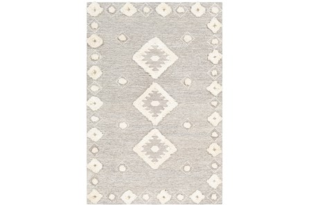 60X90 Rug-High/Low Pile With Diamond Pattern Camel/Cream