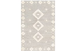 8'x10' Rug-High/Low Pile With Diamond Pattern Camel/Cream