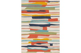 """5'3""""x7'3"""" Rug-Colorful Paint Drips Multicolor"""