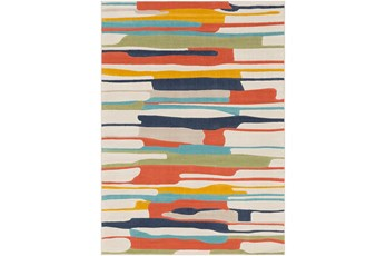 63X87 Rug-Colorful Paint Drips Multicolor